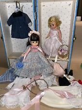 New ListingMadame Alexander 2 dolls and trunk Clothes Shoes Basket Large Lot