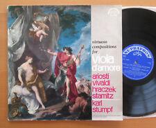 SUA 10568 Virtuosen Kompositionen für Viola d'amore Karl Stumpf NM Supraphon Mono