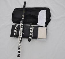 Grendadilla wooden Flute Split E with Italian pad  B C Bb foot wood case