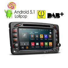 4-Core Android 5.1 Car Stereo DVD Radio GPS for Mercedes Benz C Class W203 /W209