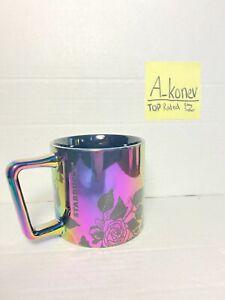 NEW Rare Starbucks 2020 Iridescent Autumn Rose Mirror Metallic Coffee Mug 14oz