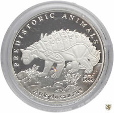 AFGHANISTAN, 500 Afghanis, 1995, Ankylosaurus, KM#1032, Polierte Platte