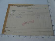Original Vintage Billhead --1903 American Agriculture Chemical co - RUTLAND VT