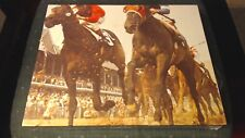 1977 C.R. GIBSON ANOTHER VIEW PHOTO FINISH HORSE RACING JIGSAW PUZZLE NEW SEALED