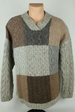 Cabela's Womens XL 100% Wool Heavy Chunky Knit Multicolor Sweater