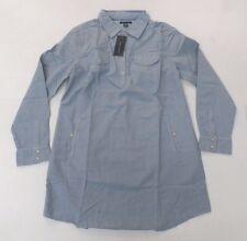 Tommy Hilfiger Women's Striped Shirt Dress Blue GG8 Size XL NWT