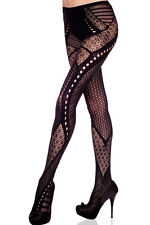 Collant Résille Noir Frise SEXY BAS NEUF