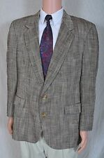 Vintage Society Brand Brown Plaid 2 button sports coat blazer 42
