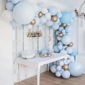 103pcs Macaron Blue Balloon Arch Kit Birthday Party Decor Kids Boy Baby Shower