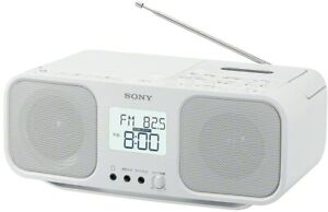 SONY CD Radio Cassette Recorder CFD-S401 White in Japanese