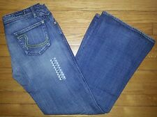 Rock & Republic Jeans Blue Sz 31 34x32 Skynard Flared Wide Leg Blue NWOT p2504