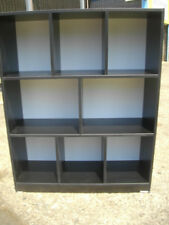 NEW BLACK CUBE BOOKSHELF*120 X 900*PIGEONHOLE*DISPLAY*BOOKCASE*AUSTRALIAN MADE