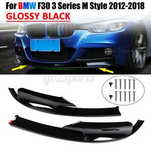 For 12-18 BMW F30 3 Series M Style Front Bumper Lip Body Splitter Gloss Black au