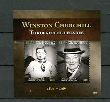 Micronesia 2015 MNH Winston Churchill Through the Decades 2v S/S
