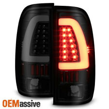 Fit 1997-2003 Ford F150 1999-2007 F250 F350 Black Smoked LED Tube Tail Lights
