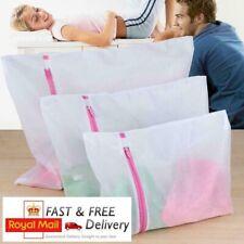 3x Laundry Washing Mesh Net Zipped Wash Bag Lingerie Underwear Bra Clothes Sock