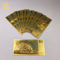 10 pcs Poland Banknotes Colorful 50 Bill PLN Gold Banknotes For Collection