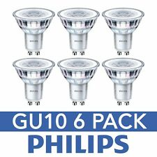 6 Pack GU10 Philips LED 4.6w 390lm (50w Equivalent) COOL WHITE Spotlight