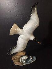 "RARE painted Vintage Hutschenreuther Seagull Figurine Statue large bird 14"""