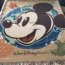 Mickey Mouse Walt Disney World Parks Tapestry Throw Blanket60 x 50