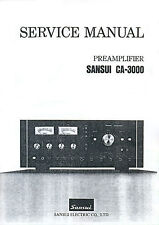 SANSUI CA-3000 CA 3000 SERVICE MANUAL & SCHEMATIC