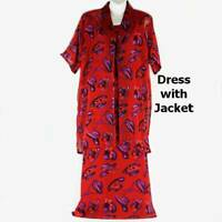 Red Hat Society inspired - Dress with matching Jacket, Free Necklace & Earrings