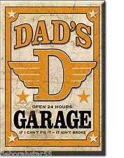 Dads Garage Fridge Magnet Dad Gifts Garage Tin Sign MAGNET Novelty Dad Gift