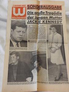 J.F. Kennedy Jacky Onassis - Zeitungsausschnitt von 1963 - Tod Patricks (683)