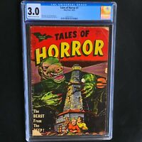 TALES of HORROR #7 (Toby Press 1953) 💥 CGC 3.0 💥 ONLY 17 in CENSUS! Pre-Code