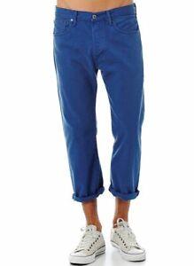 New Men Levis 501 Blue Denim Jeans 3/4 Original Straight 3 Quarter NWT