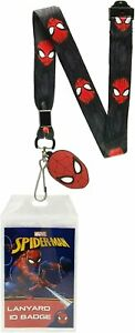 """Marvel Lanyard ID Badge Holder And 2"""" Rubber Charm Pendant With Raised Script"""