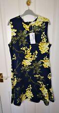 New Warehouse Womens Summer Midi Dress Size 16 Navy Print Flowers Bodycon    E