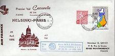 B0438- 1er  VOL   CARAVELLE   AIR FRANCE   HELSINKI  PARIS  1 /04/76