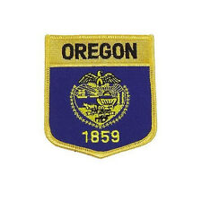 OREGON USA STATE SHIELD FLAG EMBROIDERED IRON-ON PATCH CREST BADGE..NEW