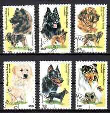 Chiens Tchad (23) série complète de 6 timbres oblitérés