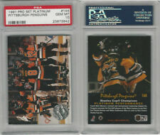 1991 Pro Set Platinum Hockey, #144 Pittsburgh Penguins, PSA 10 Gem