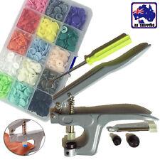 Snap Pliers W/ 150 Stud Button T5 Plastic Resin Press Fastener Diaper Tpli25555