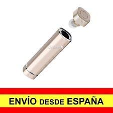 Mini Auricular Bluetooth Manos Libres Caja Carga Recargable USB DORADO a2791