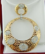 Diamond Large Circle Round Pendant  in14k Solid Rose Gold (0.40 ct. t.w.)