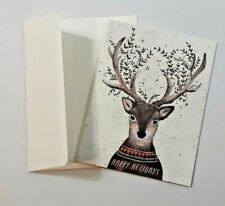 Minted Christmas Boxed Cards Deer (Set 8 Notecards & Envelopes)