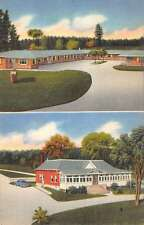 Woodstock New Brunswick Canada Motel Hill View Linen Antique Postcard K15763