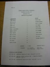 07/04/1990 Southampton Reserves v Fulham Reserves  (Single Sheet). Item appears
