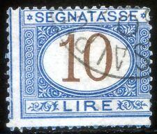 Regno d'Italia 1874 Segnatasse n. 14eb - varietà - usato (l507)