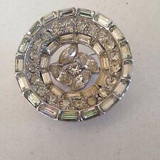 Vintage 1950s rhinestone brooch