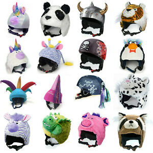 CrazeeHeads Animal Unicorn Panda Viking Ski Snowboard Bicycle Snow Helmet Cover