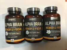 NEW Onnit Alpha Brain Memory And Focus 90 Capsules lot of 3