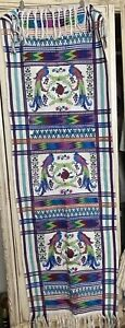 Vintage Textile Wall Hanging South America Mexico Folk Art Birds Craft Cutters