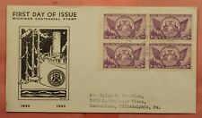 DR WHO 1935 FDC MICHIGAN CENTENARY NICE CACHET 149823