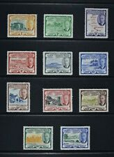 ST. KITTS, KGVI, 1952, eleven stamps from set to $1.20 value, LMM / MM, Cat £20.