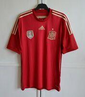 SPAIN NATIONAL TEAM 2014/15 HOME FOOTBALL SHIRT JERSEY CAMISETA ADIDAS SIZE (L)